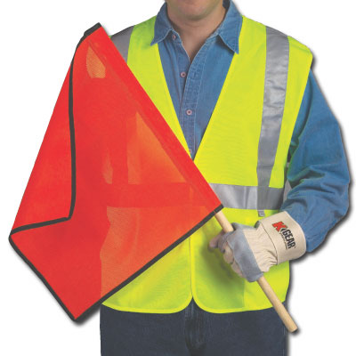 Cortina Safety Fluorescent Warning Flag