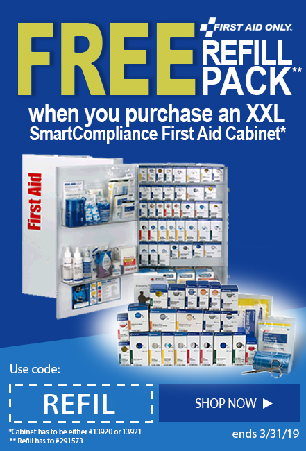 Buy an XXL SmartCompliance First Aid Kit and get a FREE refill.