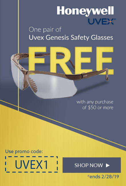 Spend $50 and receive a free pair of UVEX glasses.
