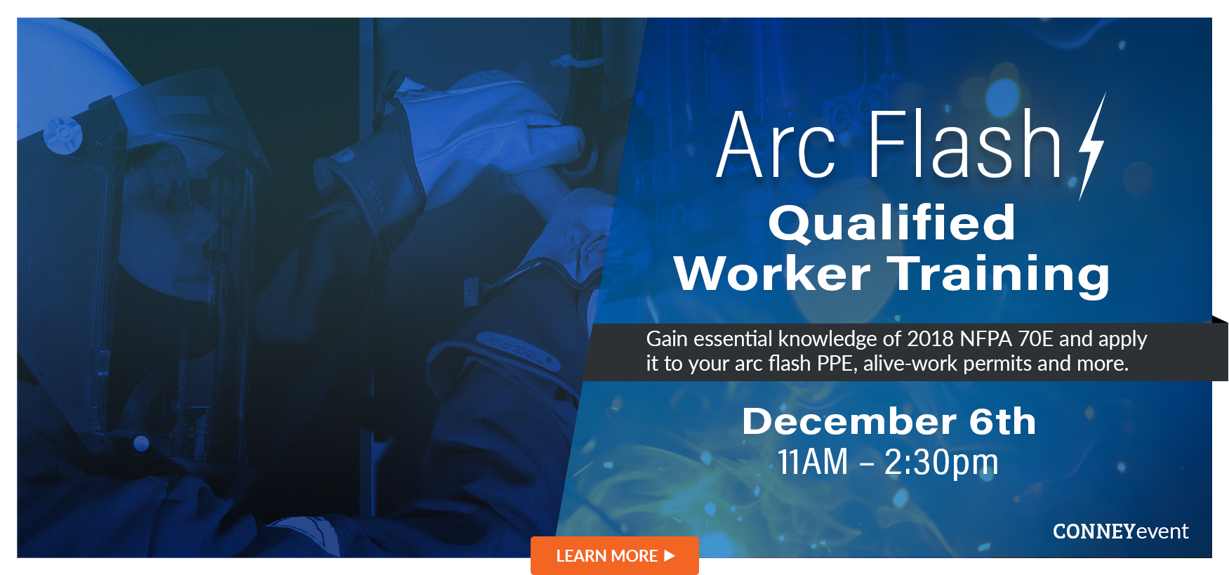 Arc Flash Qualified Workers Training, Dec. 6, 11AM