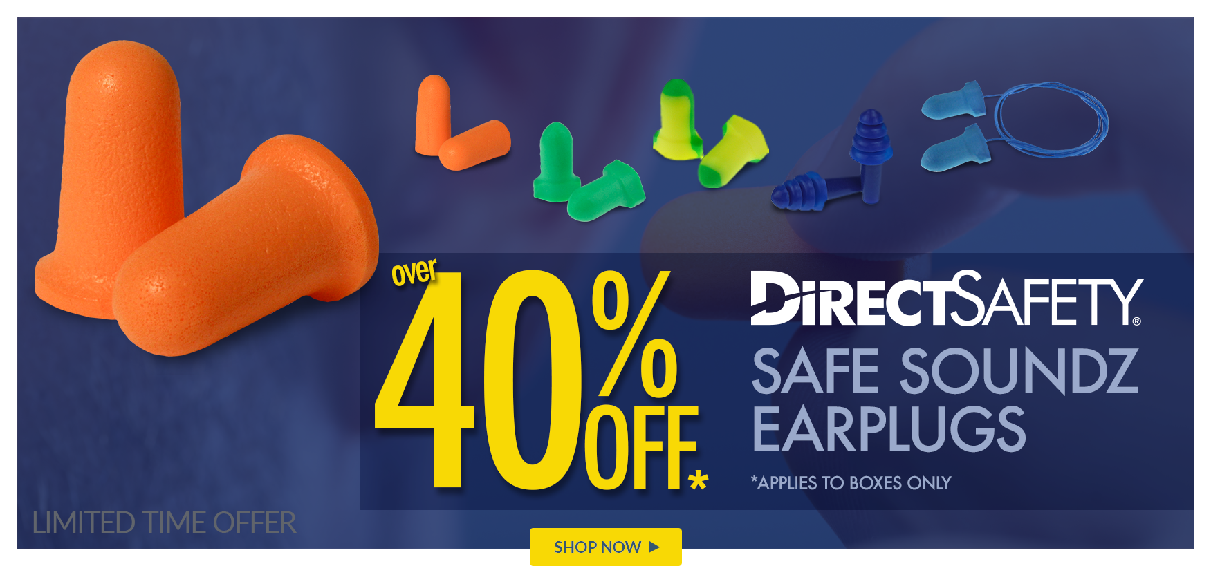 40% Off Direct Safety Safe Sounds Earplug, boxes only