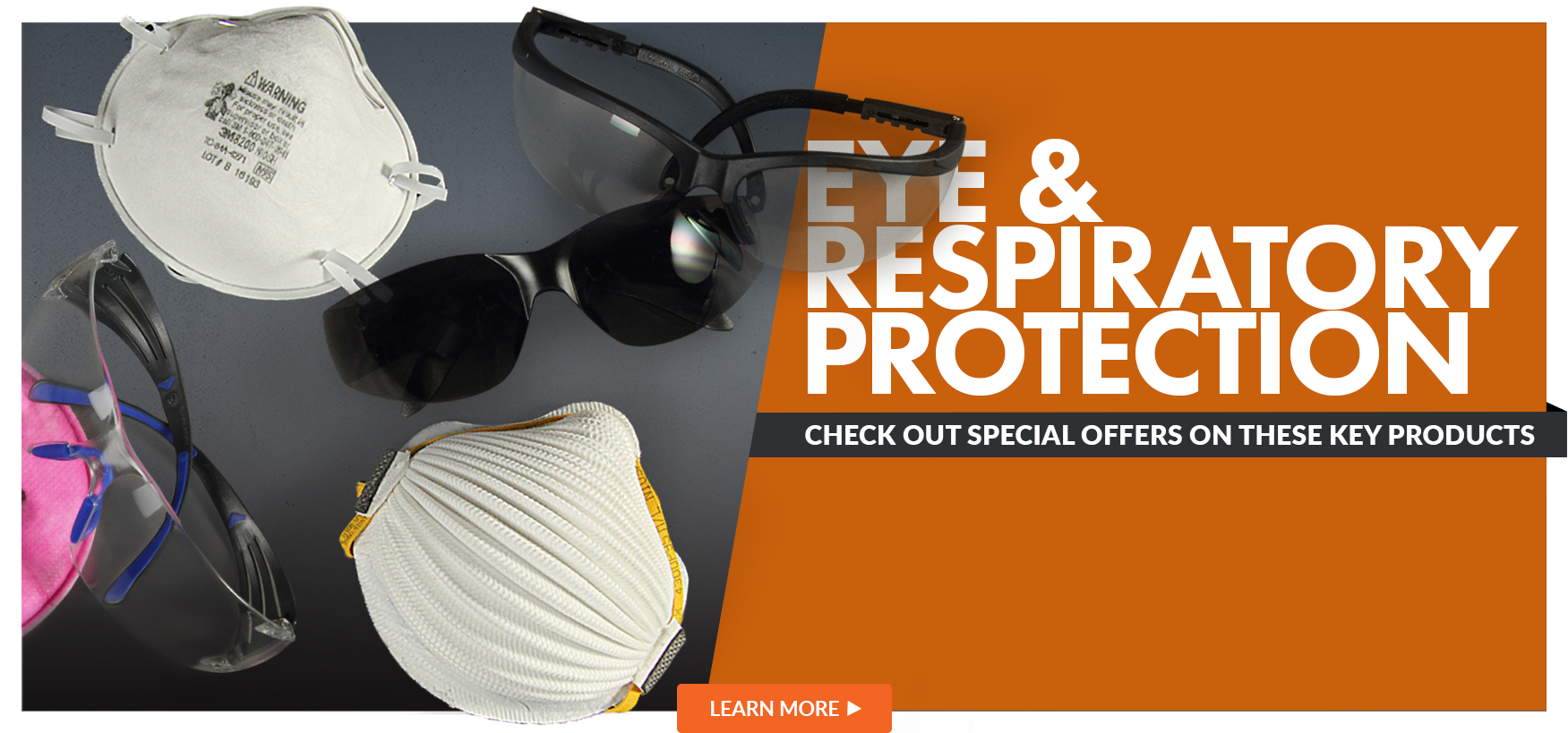 Eye and Respiratory Protection, Check out Special Offers on these key products