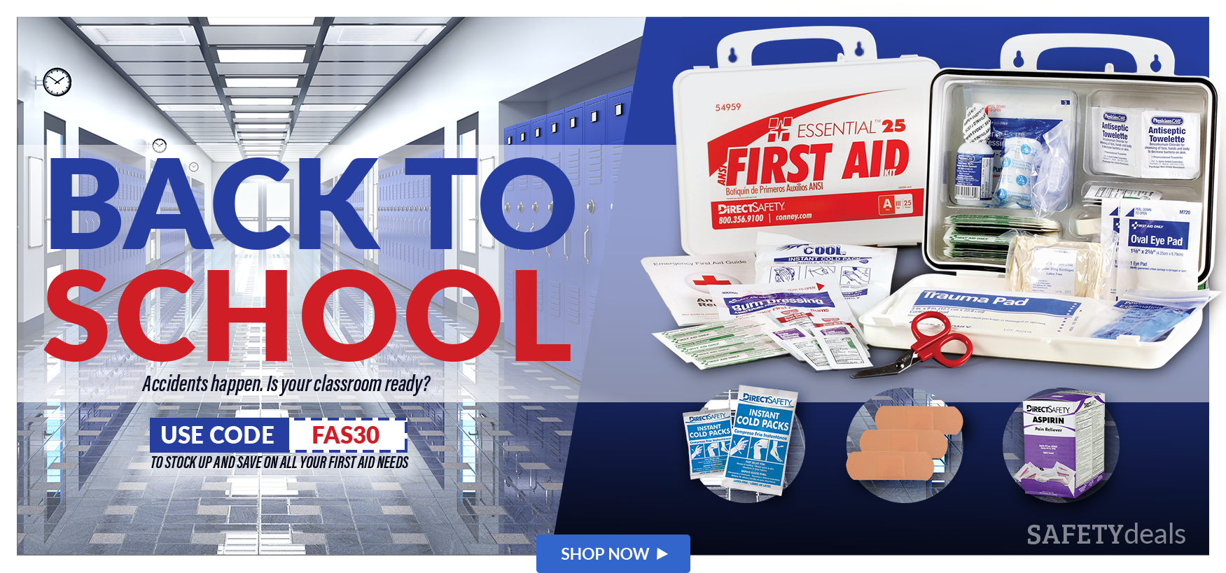 Get ready for school, Stock up and Save on First Aid