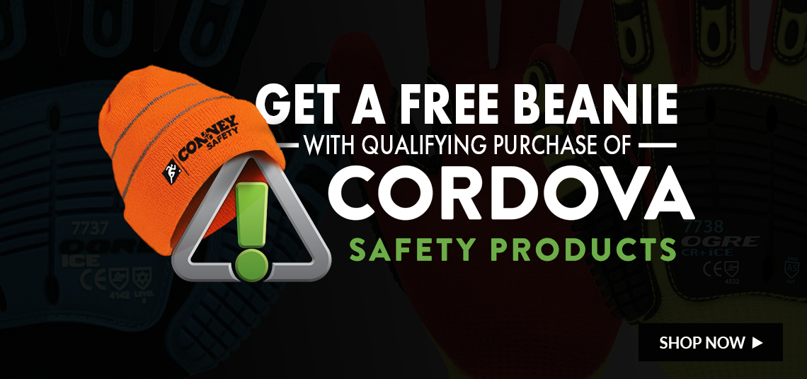 Get a free beanie with your qualifying purchase of Cordova Products.